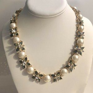 Charter Club Pearl & Crystal All-Around Necklace